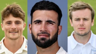 Lions players (from left) Tom Abell, Saqib Mahmood and Mason Crane (Getty Images)