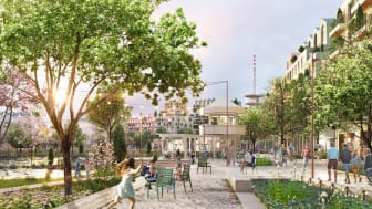 Travbanans domartorn får i FOJABS förslag en ny funktion som tehus i den nya Malmöstadsdelen.
