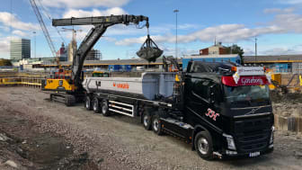 1 600 färre lastbilstransporter för NCC i Göteborg med digital tjänst från Volvo