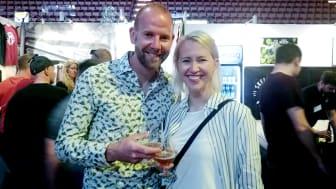 Henrik Björling och Madelene Hansson var nöjda med mässan.