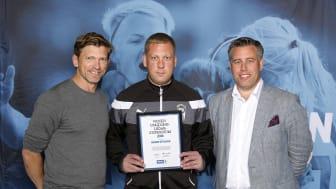Henrik Ottosson, Billesholms IK. Här tillsammans med Jesper Blomqvist och Mikael Tykesson.