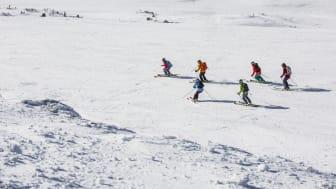 Skidåkning tillsammans - skiing together in Åre