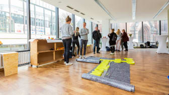 Viel Platz und Licht für Kreativität im Pop Up Pavillon