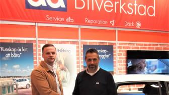 Mikael Olsson, Sälj- & Marknadschef KW Parts och Henrik Wægert Hansen, Inköpschef AD Sverige
