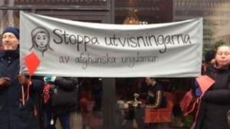 Bilden från en tidigare demonstration.