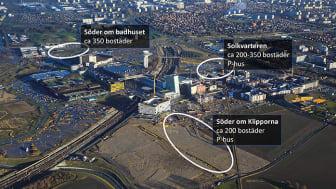 Karta över aktuella områden med fördelade bostäder. Foto: Perry Nordeng