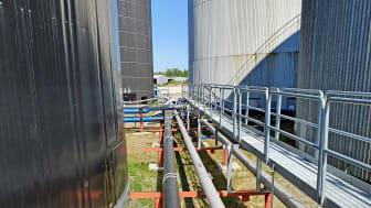 Konvertering till bioolja på Wibax terminal i Skutskär