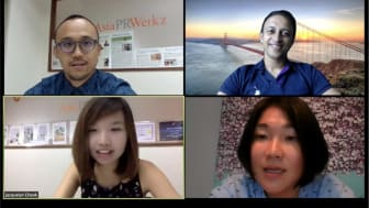 """The panel of expert communicators at the Asia PR Werkz webinar """"COVID-19: How do we make our brand matter in these turbulent times"""""""