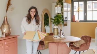 """De Flexa Binti Home Kleurencollectie weerspiegelt de culturele roots van Binti Home's eigenaresse Souraya Hassan. Souraya, """"Een eigen kleurencollectie ontwerpen, is een droom die uitkomt!"""""""