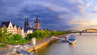 Cologne: view towards the city centre with cathedral © DZT e.V.  F: Francesco Carovillano