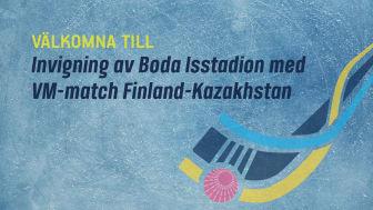 Boda isstadion invigs med VM-bandy, Finland-Kazakhstan