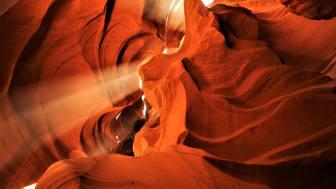 Lightbeams im Antelope Canyon