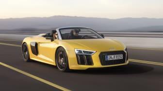 Den nye Audi R8 Spyder V10 får debut i New York