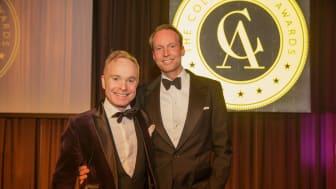 Peder Lamm och Pontus Silfverstolpe på 2018 års Collector's Awards. Foto: Jonas Svenningsson