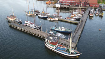 Klippans Ångbåtsbrygga. Bildrätt: Klippans Bruksbåtförening.