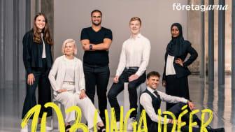 103 unga idéer - förnyarna som uppgraderar Sverige. Från vänster till höger: Johanna Nissén Karlsson, Malin Winberg, Cem Celepli Atci, Jonatan Persson, Oliver Titikic och Deqa Abukar.
