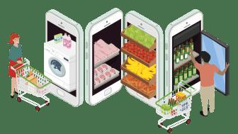 Svensk e-handel första halvåret: Produkter går fortsatt starkt och tjänster ökar igen