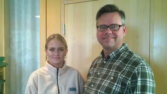 Klara Klippinger och Pera Oddman
