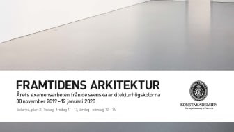 Framtidens arkitektur  – årets examensarbeten från svenska Arkitekturhögskolor