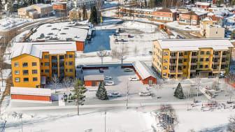 Pudasjärven hirsikerrostalot, kuva: Linja Arkkitehdit Oy