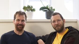 Jonas Nilsson och Mikael Mildén har arbetat i ett år med det första numret av Äldre i Centrum Vetenskapligt supplement. Foto: Mai Engstöm.