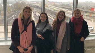 Siemens traineer 2019-2020: Annica, Ebba, Linnea och Cecilia