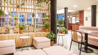 Gemeinschaftsbereich im neuen Aparthotel Adagio Paris Nation. © Fondation de Rothschild