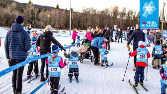 13. mars er det klart for Vismas barneskirenn der små og store barn får prøve ut skiferdighetene i snøparken på Sognsvann