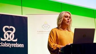 Socialminister Lena Hallengren inledningstalade på konferensen Värna våra yngsta