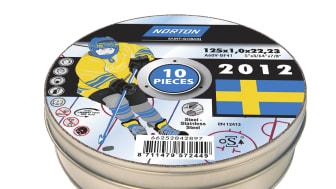 Norton kapskiva till Hockey-VM - plåtburk