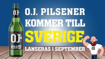 Den 1 september lanseras O.J. Pilsener i Systembolagets fasta sortiment.