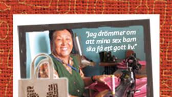 Kampanjmaterial för Malmborgs-butikerna