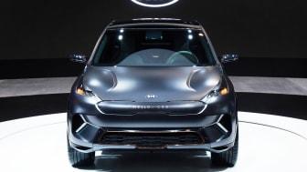 På CES 2018 præsenterer KIA bl.a. et Niro EV koncept med en rækkevidde på 383 kilometer uden emissioner.