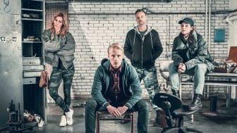 F.v. Vera, Robin, Dan og Erica i Enheten. Foto: TV3/Bendik Stalheim Møller