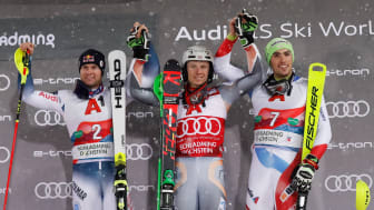 Alexis Pinturault second at the Night Race in Schladming