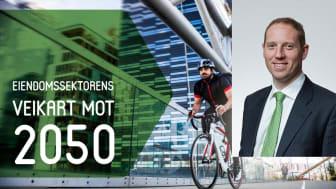 Aberdeen Standard Investments Norway, her ved daglig leder Thomas Wolff, forplikter seg til strakstiltakene i Eiendomssektorens veikart mot 2050.