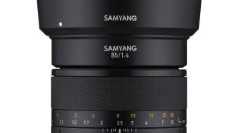 """Das Samyang MF 85mm F1,4 MK2 verfügt in der 2. Generation unter anderem auch über die neue """"De-Click""""-Funktion, mit der sich die Blende stufenlos schalten lässt."""