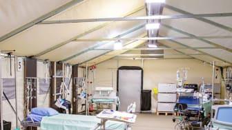 HUSin telttasairaala suunniteltiin epidemian varalle nopealla aikataululla - Uusi toimintamalli voidaan tarvittaessa kopioida eri puolille Suomea