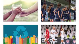 Samarbetet mellan VA SYD och FC Rosengård främjar både social och miljömässig hållbarhet.
