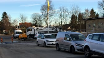Full aktivitet på Lapplandsvägen i Eslöv den 6 januari