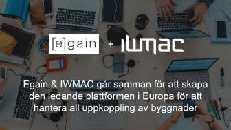 Egain & IWMAC går samman för att skapa den ledande plattformen i Europa för att hantera all uppkoppling av byggnader.