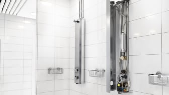 FM Mattsson connected showers with Watersprint water purification system.