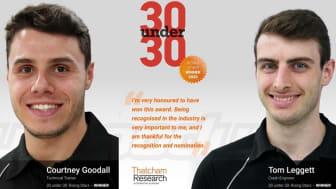 Courtney and Tom Bodyshop Live 30 Under 30 Rising Stars winners