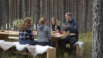 The Edible Country - bordet vid Kittelfältet. Foto Tommy Pedersen