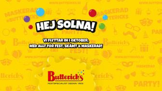 Butterick's öppnar i Westfield Mall of Scandinavia