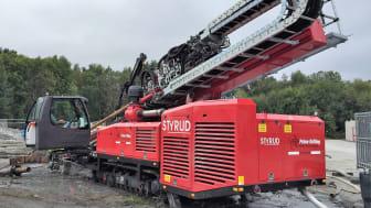 Styrd borrning med Styruds största borrigg, PD100 från Prime Drilling.