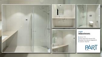 Part levererar 150 badrum till projektet Månstenen i Täby Park.