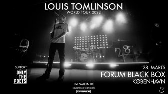 Louis Tomlinson giver koncert i Forum Black Box 28. marts 2022