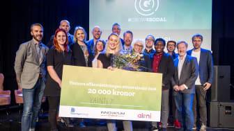 22-åriga Johanna Berg från Grundsund tog hem förstapriset 2018. Hennes affärsidé Paintly gick ut på att skapa produkter som förenklar för barnfamiljer. Foto:Engfoto