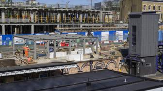 Denmark Hill - new entrance under construction
